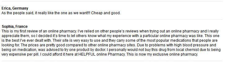 Online Rx Customer Testimonials